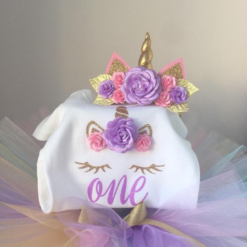 d4ed31260ed3b Baby Girl Tutu Unicorn 1st Birthday Outfit (1/2 Birthday, 1st ...