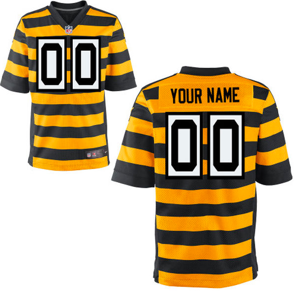 best sneakers 805bf 50a9f Pittsburgh Steelers Jersey - Men's Yellow Throwback Custom ...