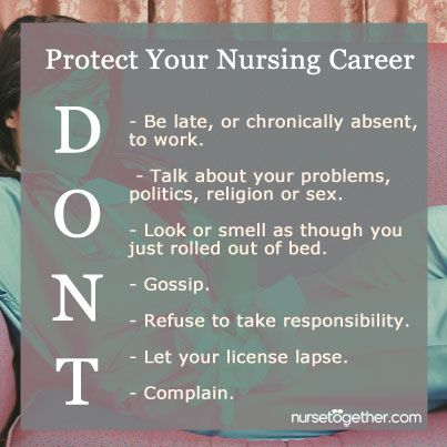 Don\u0027t lose your professionalism, #nurses! Here are some DO\u0027s and