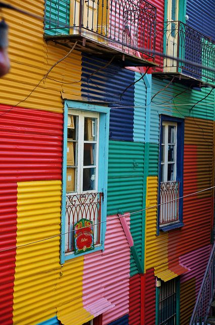 Buenos Aires La Boca Colorful Places Colourful Buildings World Of Color