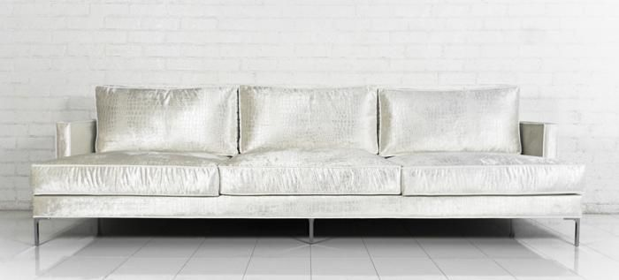 Superieur Down With Love Sofa In Cream Croc Velvet ROOM SERVICE 2300. 9ft Long