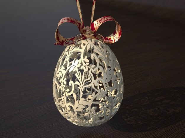 Victorian Easter Egg 3d printed Art Home decor Tabletop rendering