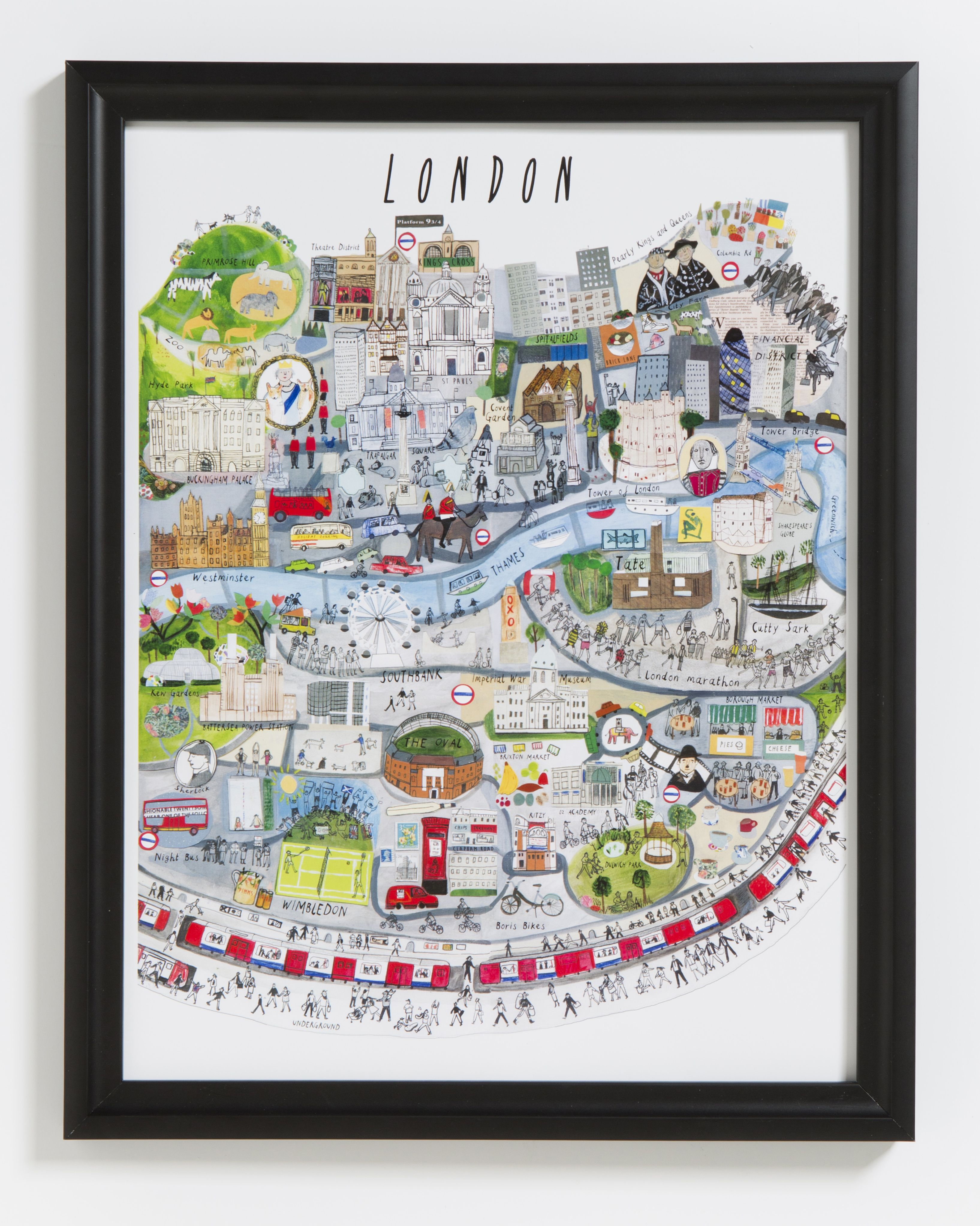 Image result for Gorgeous Prints 'Map Of London Print'