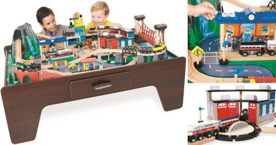 Toysrus Imaginarium 100 Piece Mountain Rock Train Table Only