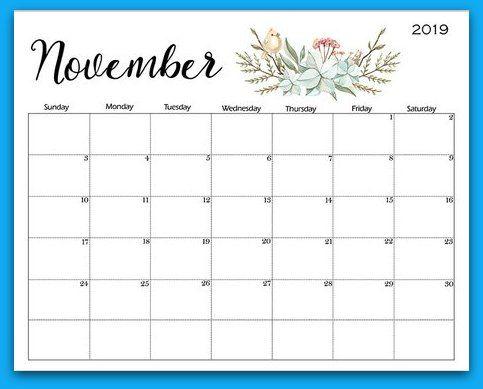 Printable Calendar November 2019 Cablo Commongroundsapex Co