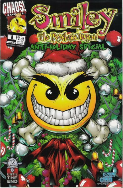 Evil Ernie Smiley | Smiley Psychotic Button
