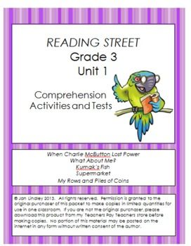 Worksheets Sample Reading Materials For Grade 3 reading street comprehension unit 1 grade 3 practice activities and tests for each main selection in the 2011 grade