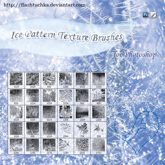 Ice Patterns Texture Brushes By Flashtuchka Deviantart Com On