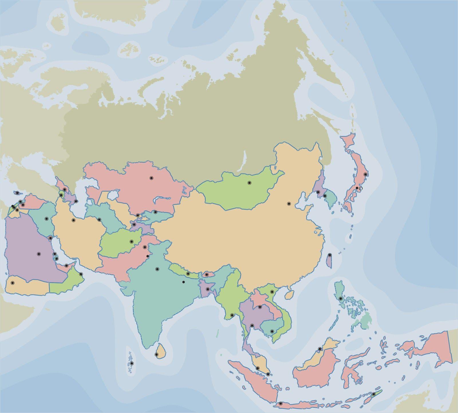 Mapa Politico De Asia Paises Y Capitales Mapas Mapa Politico