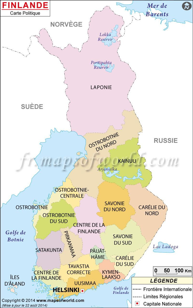 Finlande Carte Map Of Finland Hsie Europe Nordic
