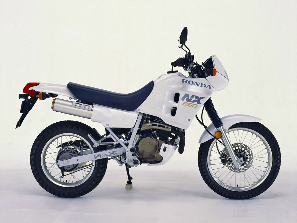 White Honda NX250 Honda, Japanese motorcycle
