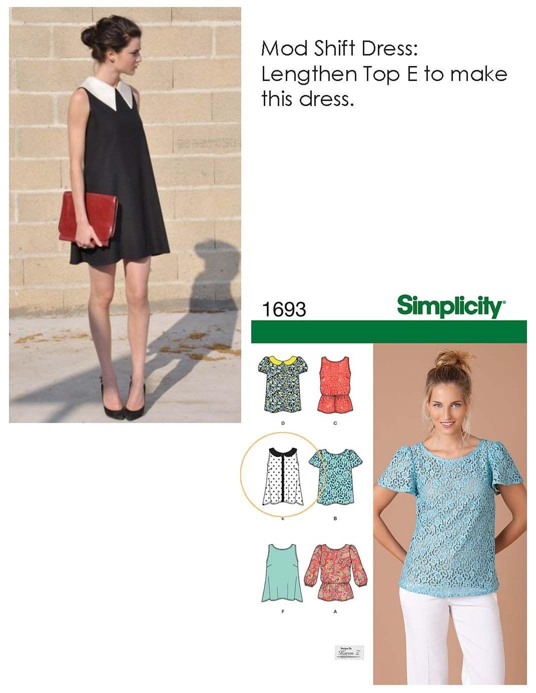 Mod Shift Dress, can i make this? | Look! | Pinterest | Costura ...