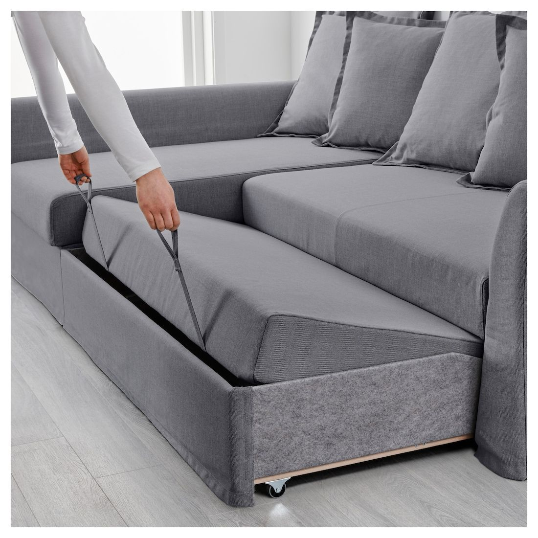 Holmsund Sleeper Sectional 3 Seat Nordvalla Medium Gray