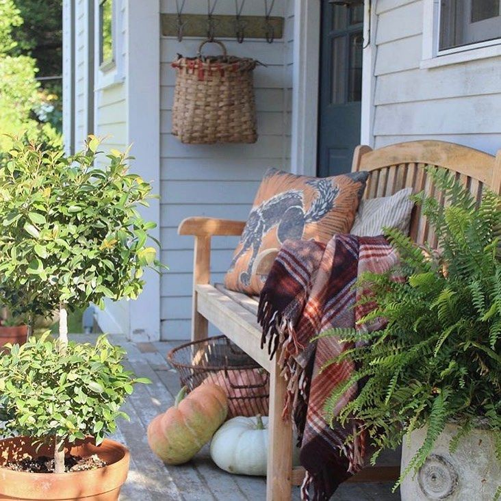 "Emily Perry - Spring Hill Farm on Instagram: ""I think it is time to change the porch to fall...I have such mixed feelings about this. This is last year's fall porch #summerdontgo"""