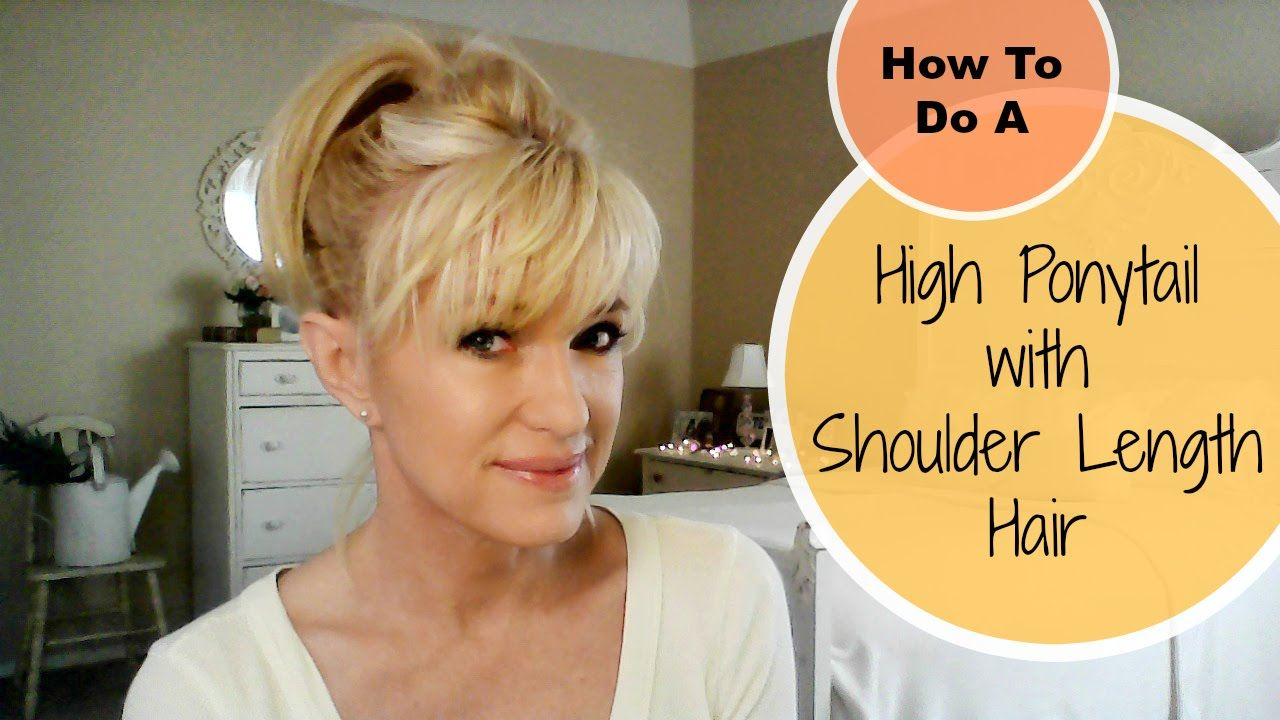 How To Do A High Ponytail With Shoulder Length Hair!  Hair