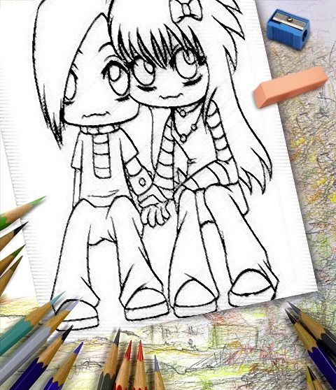 Cute things to draw for your boyfriend cute couples for Cute drawings for a girlfriend