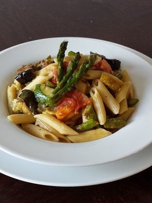 Pasta al Fresco with Grilled Vegetables
