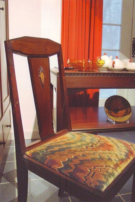 Art Deco Meubelstof.Art Deco Meubilair Gestoffeerd Met Een Grillige Meubelstof Kijk
