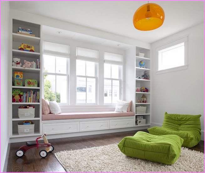 Under Window Bookcase Bench - living room - Bay Window Bench Seat Home Design Ideas Window Seats