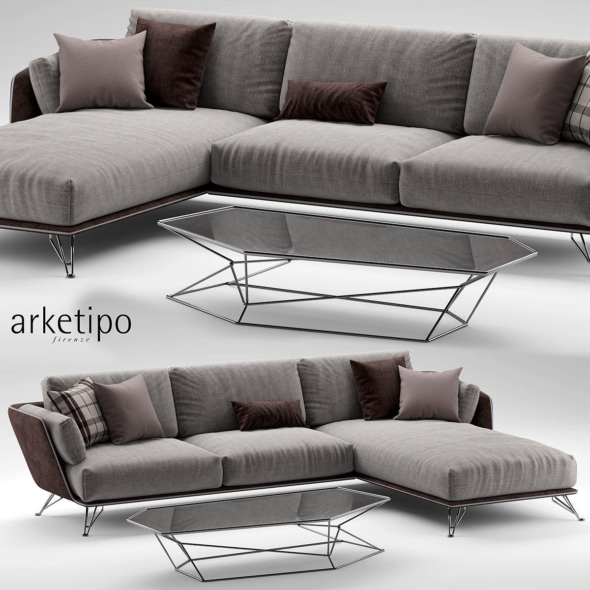 3d Model Arketipo Morrison Sofa 128 Free Download Sofa Furniture Classic Sofa