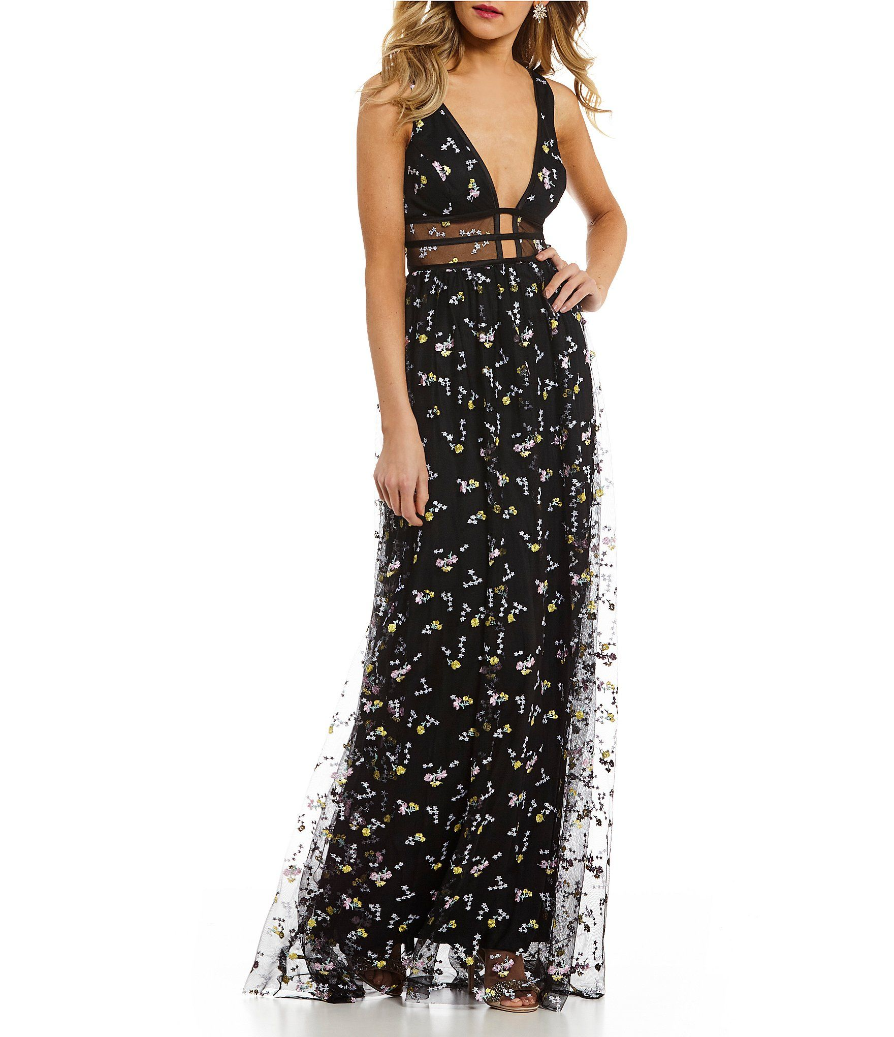 9cac145a2e9 Shop for GB Social Ditzy Floral Embroidered Gown at Dillards.com. Visit  Dillards.com to find clothing