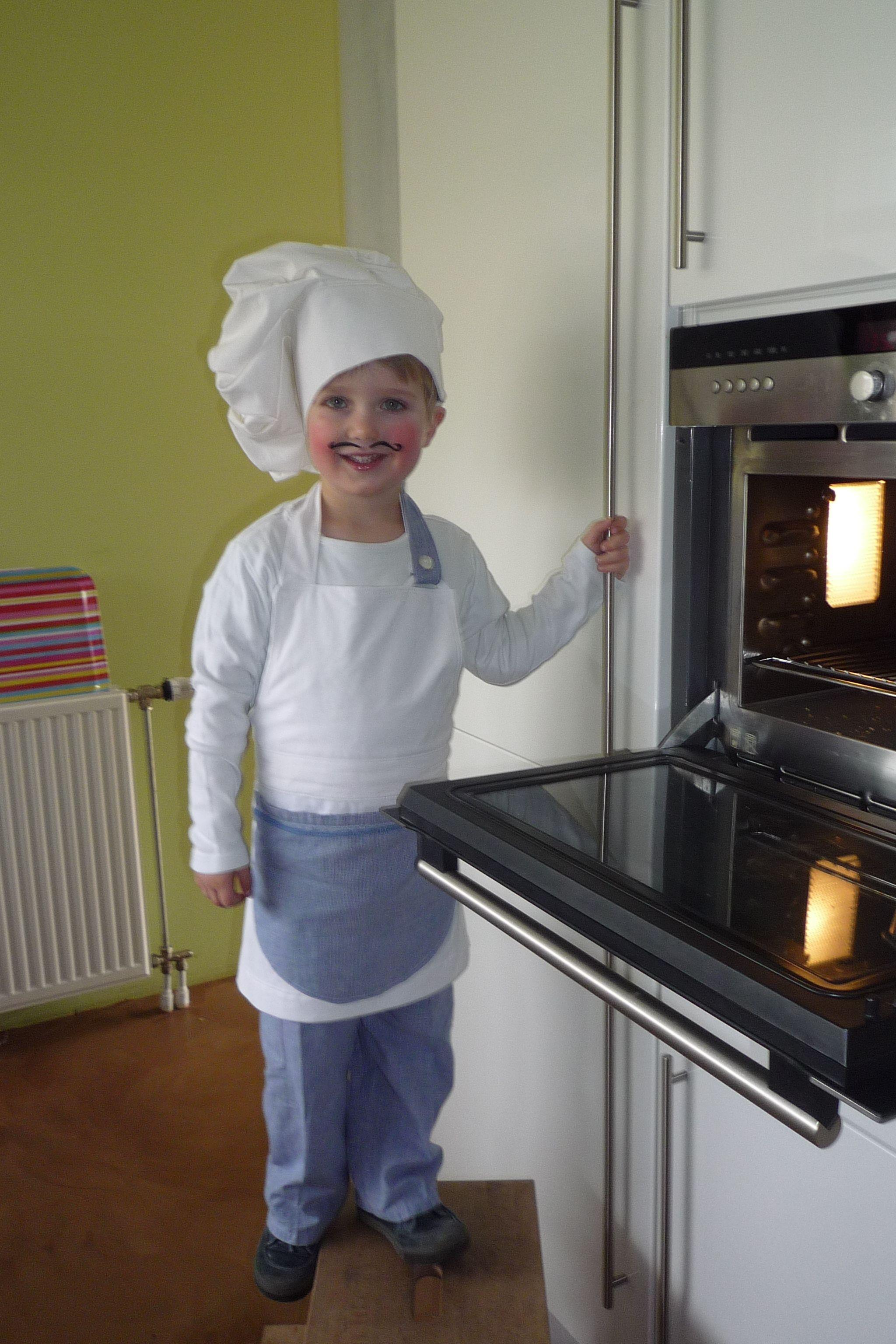 Boterhammenkok (bakker) kostuum. Lekker verkleden!