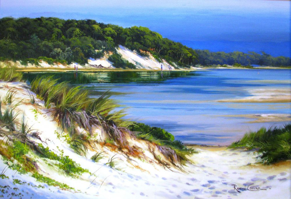 Details about Robyn Collier original oil titled 'Coastal