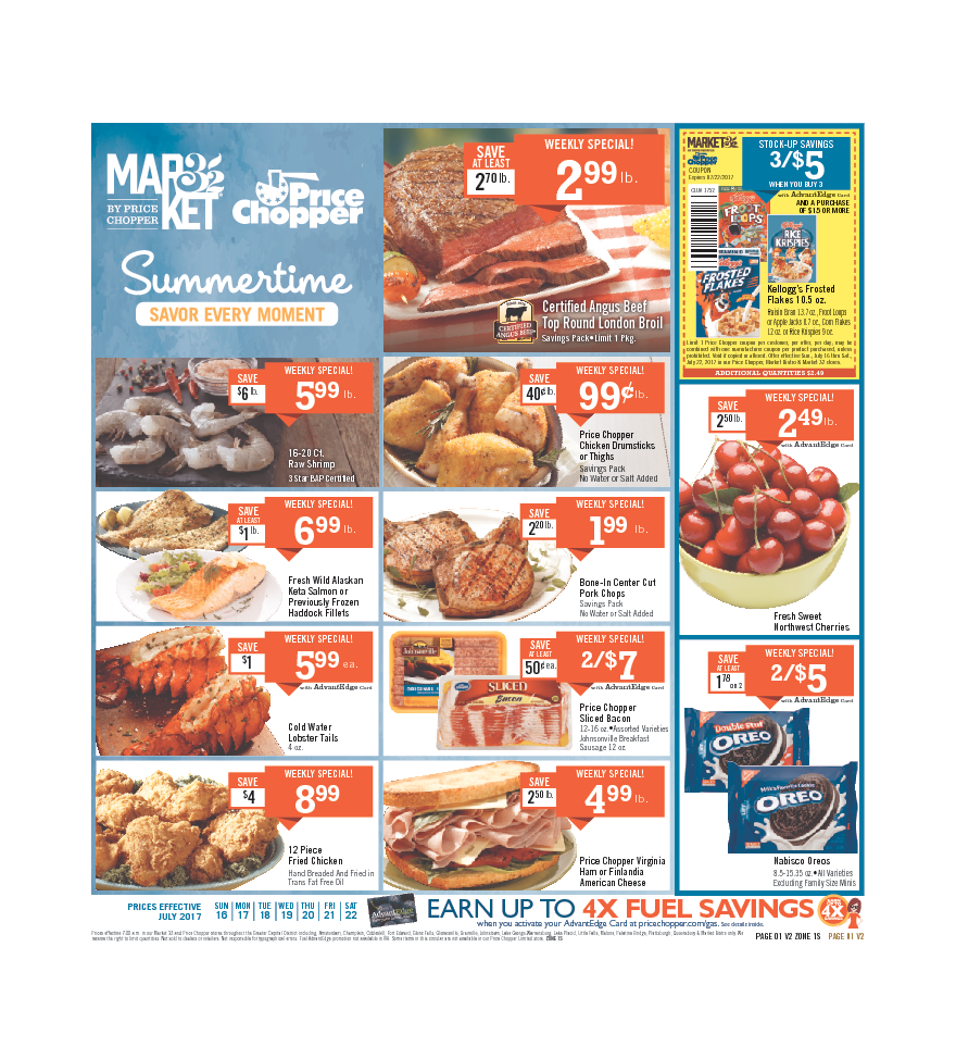 Price Chopper Weekly Flyer July 16 – 22, 2017 – Price Chopper weekly circular comes on th scene almost each week but frequently people see the Price Chopper ...