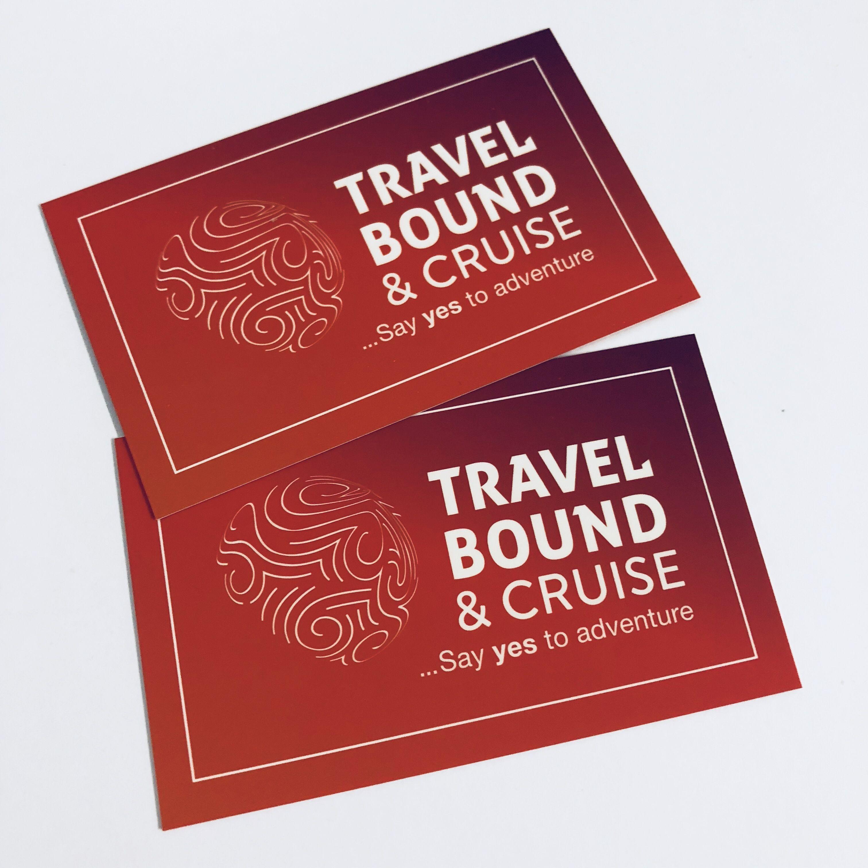 Spot Uv Businesscards For Travelboundandcruise Melbourne Printing Red White Travel Spot Uv Prints Adventure Travel