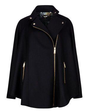 Zip front cape