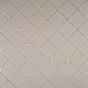 Msi Antique White Arabesque 10 1 2 In X 15 1 2 In X 8 Mm Glazed Ceramic Mesh Mounted Mosaic Wall Tile 11 7 Sq Ft Case Pt Aw Arabesq Mosaic Wall Tiles White Arabesque Tile Wall Tiles