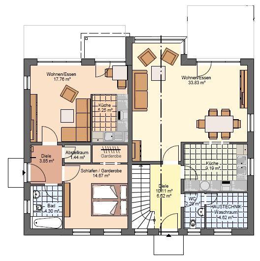 die besten 25 einfamilienhaus mit einliegerwohnung ideen auf pinterest fertighaus mit. Black Bedroom Furniture Sets. Home Design Ideas