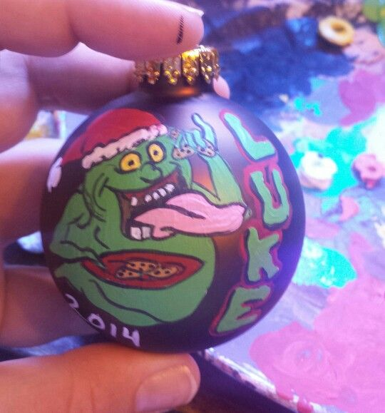 Slimer from Ghostbusters Christmas ornament! - Slimer From Ghostbusters Christmas Ornament! Crafts Pinterest