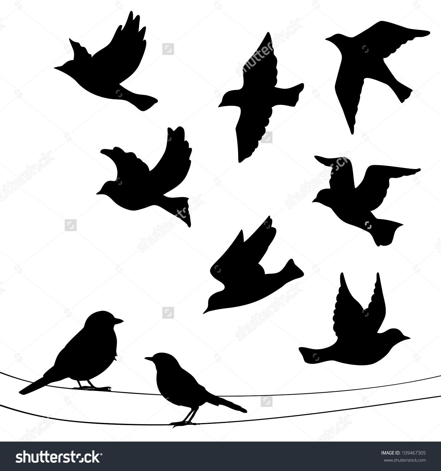 bird silhouette google zoeken silhouetten pinterest silhouetten. Black Bedroom Furniture Sets. Home Design Ideas