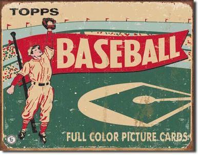 Topps Baseball 1954 Tin Sign Baseball Signs Vintage Tin Signs Baseball Decor