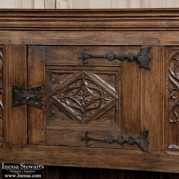 Antique Furniture Buffets And Sideboards Renaissance Gothic 19th Century Raised Cabinet Www Inessa