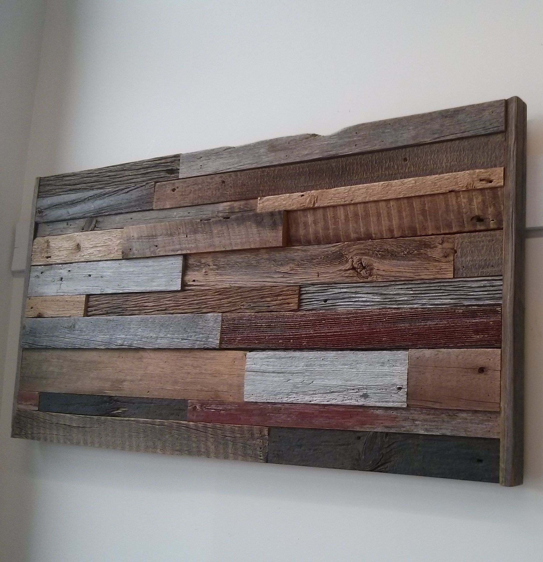Reclaimed barn board wall art 24 by 50 inches available at ...