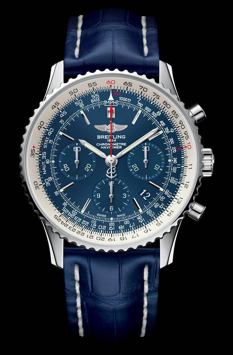 e47706c885b Breitling Navitimer Blue Sky Limited Edition 60th anniversary  watch Relógios  Breitling