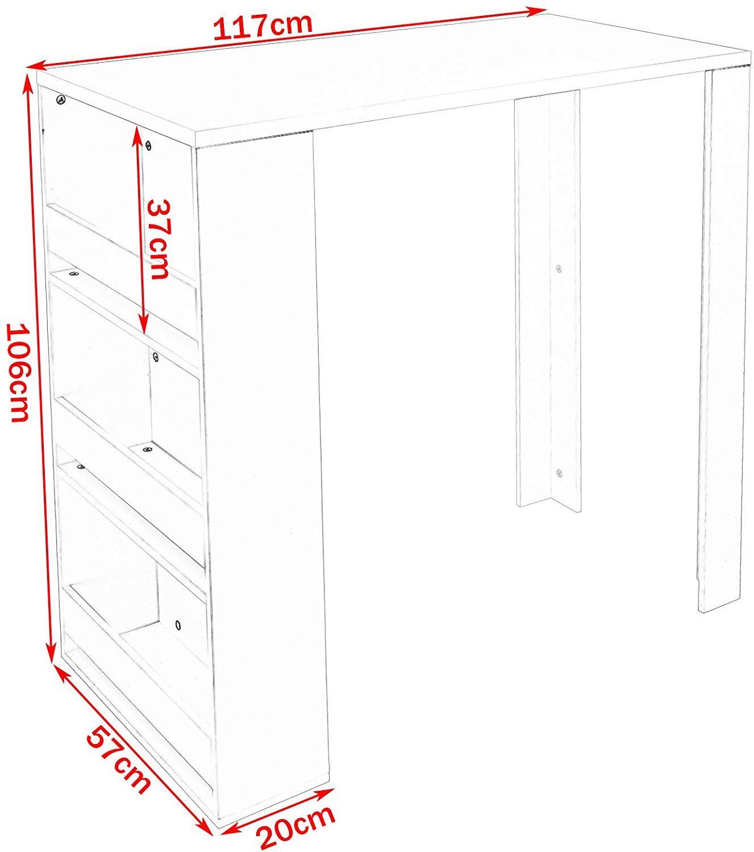 Table Haute Avec Rangement pin en tip and hack