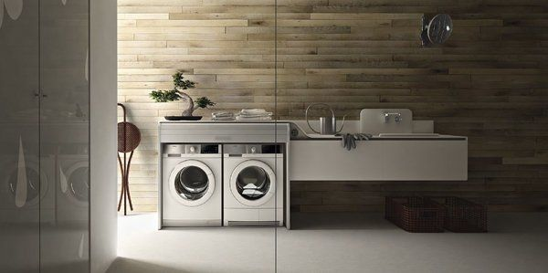 Contemporary Laundry Room Design Modern Wall Mounted Cabinets
