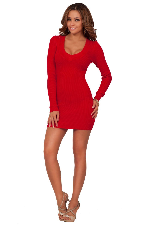 Cute Long Sleeve Tight Dresses Tight Long Sleeve Dress Long Sleeve Fitted Dress Sweater Dress Fashion [ 1500 x 996 Pixel ]