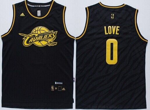 Cleveland Cavaliers #0 Kevin Love 2014 Black With Red Fashion Jersey