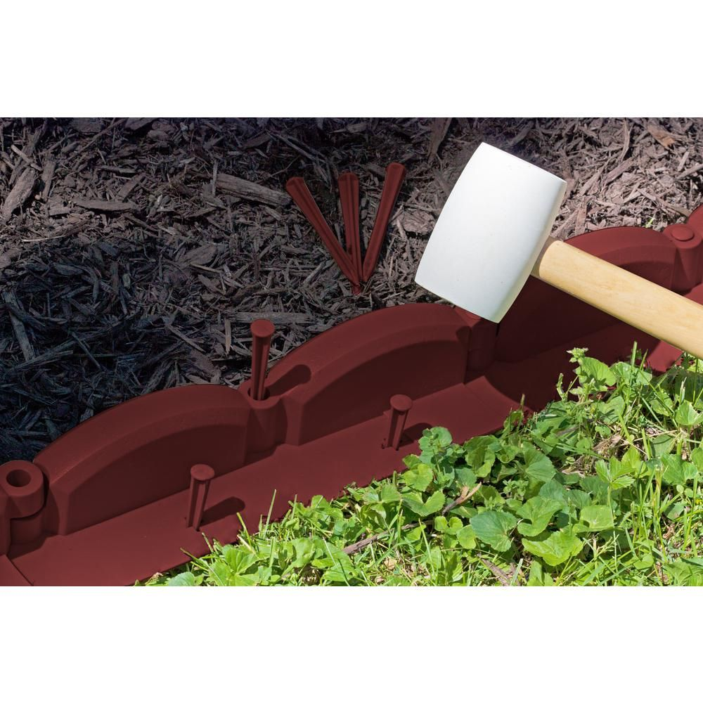 Emsco 20 ft. TrimFree Resin Red Brick Lawn Edging2038HD