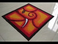 #26 Simple and Unique Free Hand Ganesha Rangoli for Competition | Rangoli for Diwali