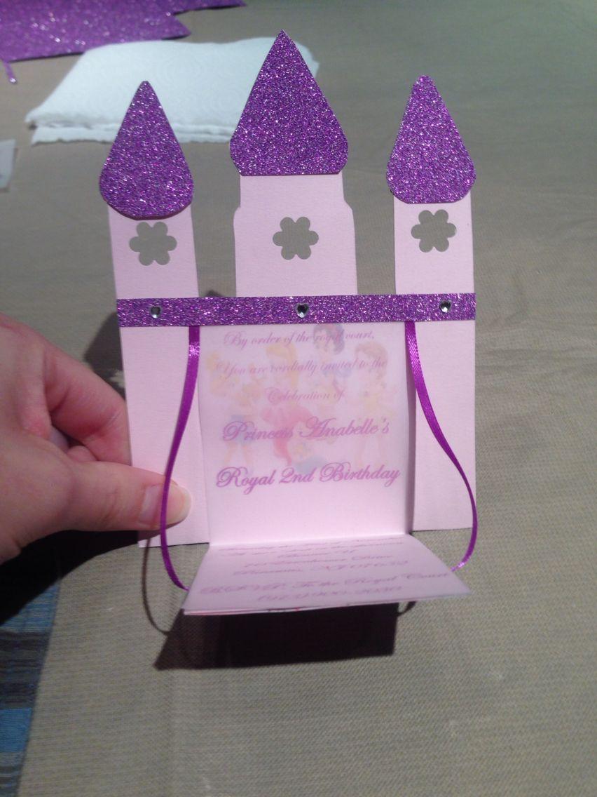 Princess Castle Invitation Open