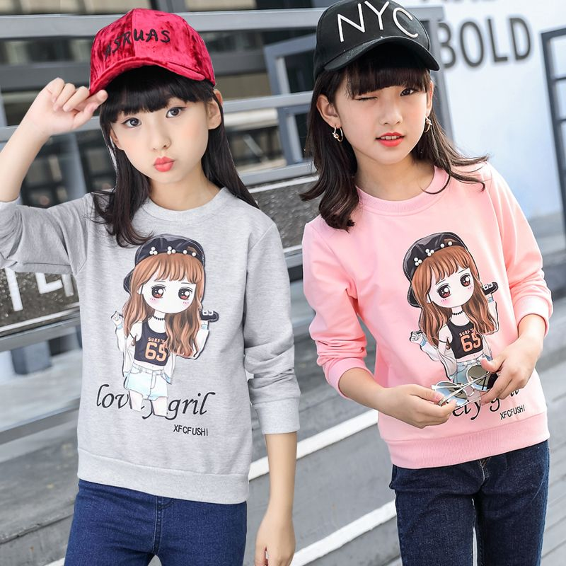 24c68917ce Famli 4Y-12Y Kids Girl Long Sleeve T Shirts Spring Fall Teenager Girls  Fashion Print Cotton Cute Tee Shirt Top Children Blouse //Price: $18.32 //  #kids
