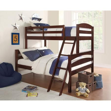 Dorel Living Brady Twin over Full Bunk Bed Multiple Colors Full