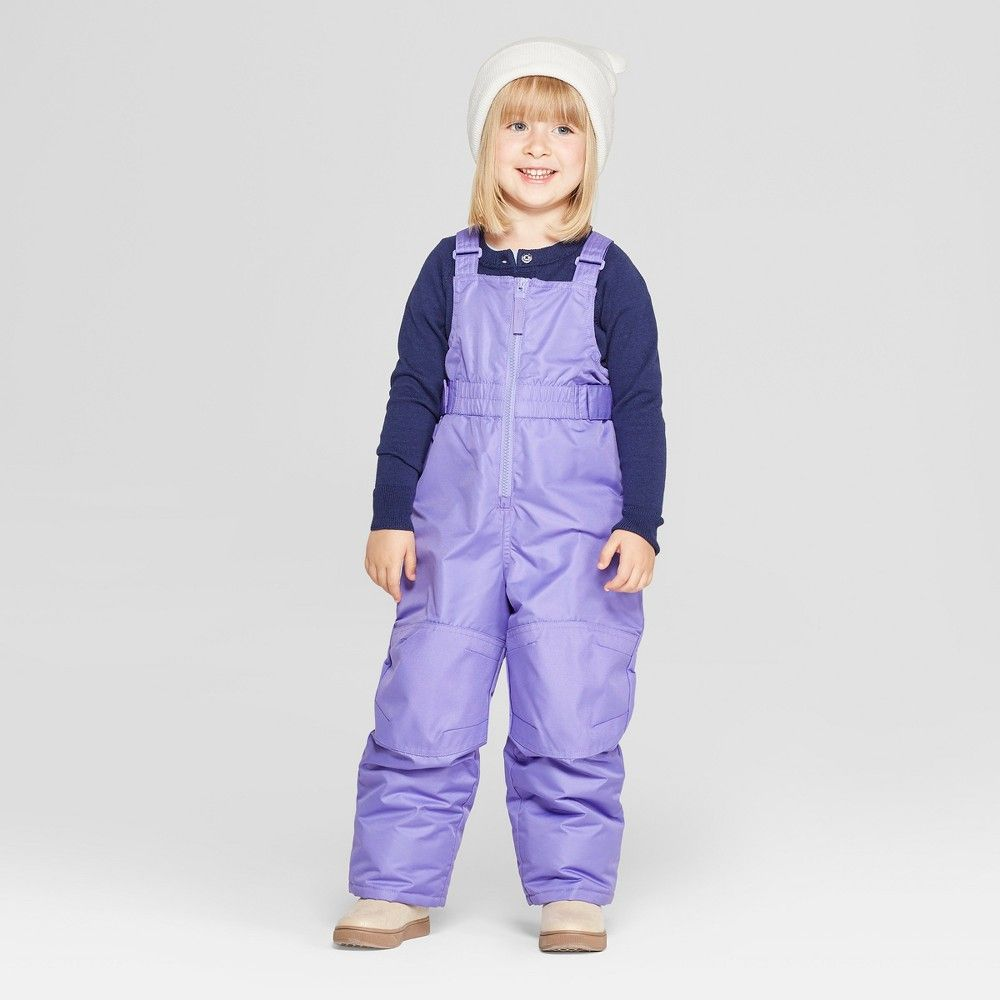 dbedfd942 Your girl will be ready for wintry days in these Purple Snow Bibs ...