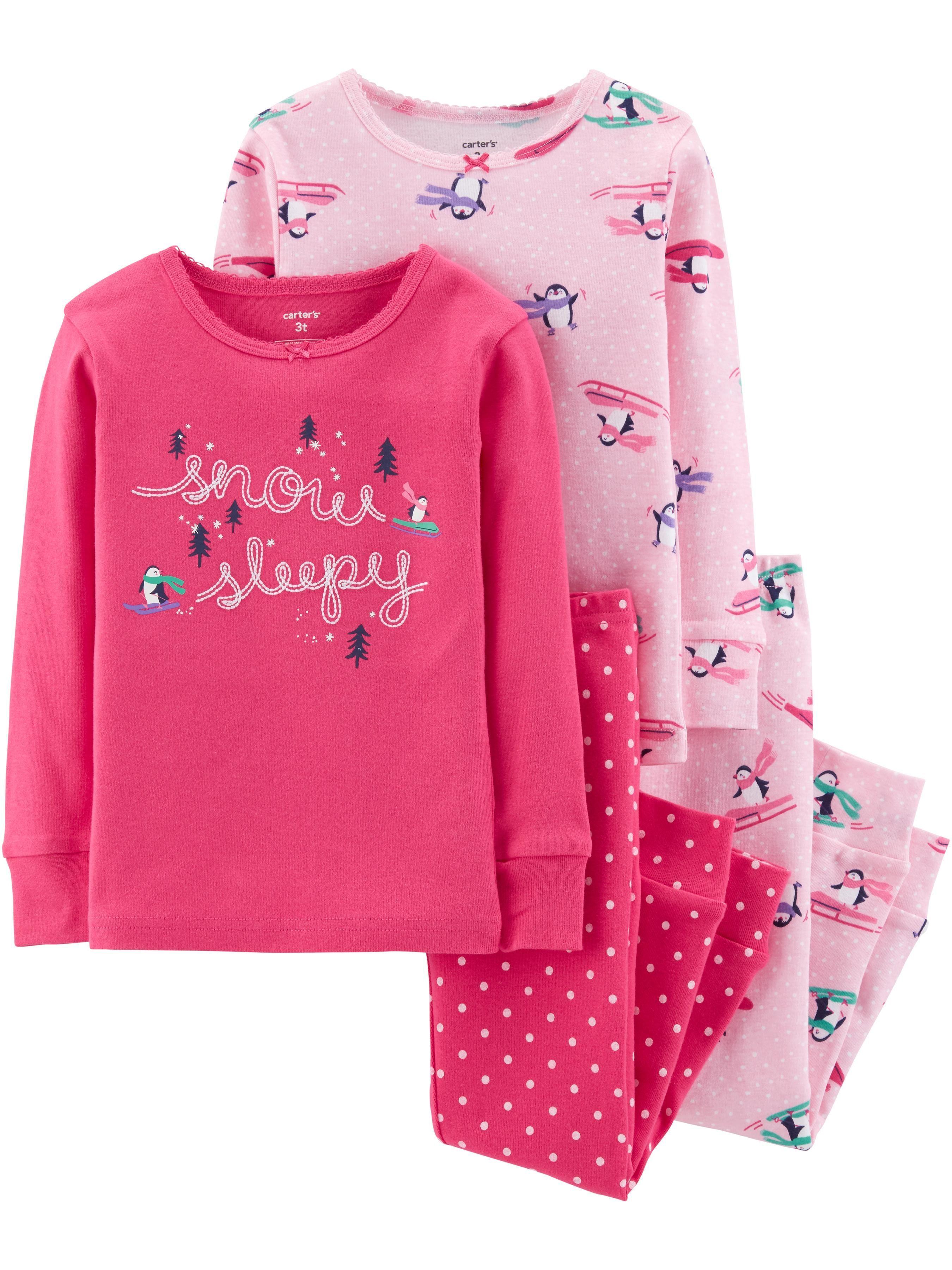 aa0ce12b58f4 Toddler Girl 4-Piece Penguin Snug Fit Cotton PJs