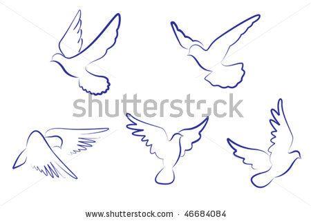 dove outlines   Tattoos   Dove outline, White doves, Bird logos